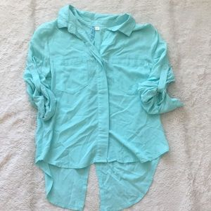 Dina Be Light Blue Double Breasted Shirt